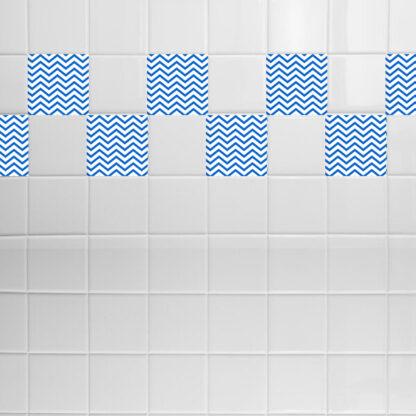 Σετ 8 τεμ αυτοκόλλητα πλακάκια zig - zag