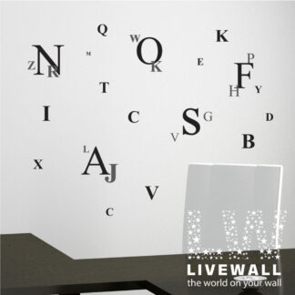 Αυτοκόλλητο τοίχου Γράμματα