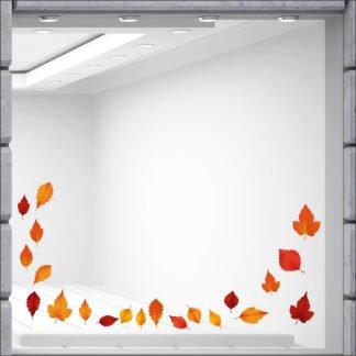 Αυτοκόλλητο βιτρίνας Φύλλα φθινοπωρινά σετ 21 τεμάχια