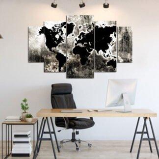 Πενταπτυχος πινακας abstract World Map