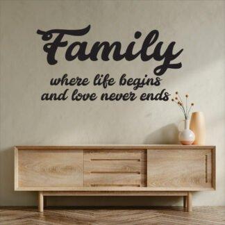 Αυτοκόλλητο τοίχου Family