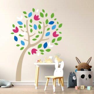 Αυτοκόλλητο τοίχου Δέντρο της ευτυχίας