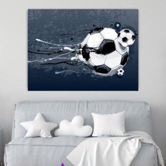 Πίνακας σε καμβά μπάλα ποδοσφαίρου