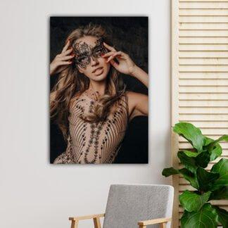 Πίνακας σε καμβά Woman Painted