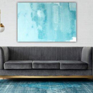 Πίνακας σε καμβά Blue Abstract Brush