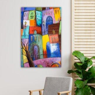 Τρίπτυχος πίνακας Watercolor Birch Trees