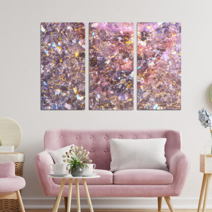 Τρίπτυχος πίνακας Pinkish-Granite