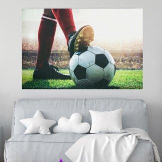 Πίνακας σε καμβά κόκκινες κάλτσες & μπάλα ποδοσφαίρου
