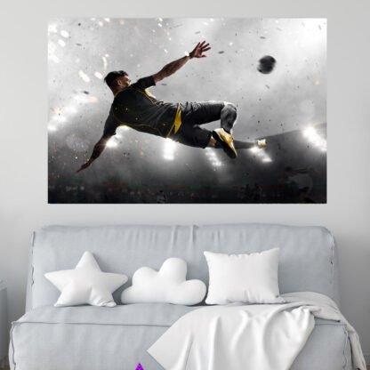 Πίνακας σε καμβά παίχτης ποδοσφαίρου