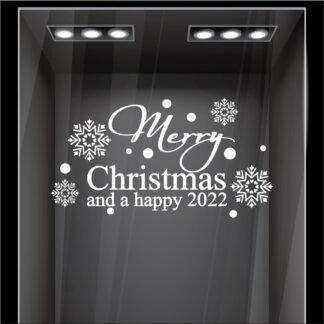 Αυτοκόλλητο τοίχου - βιτρίνας A happy 2022
