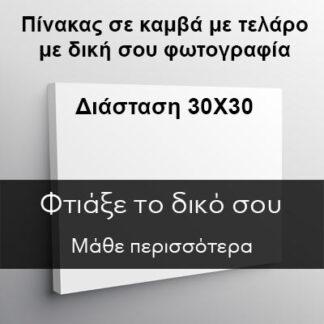 Εκτύπωση σε καμβά με τελάρο με δική σου φωτογραφία (Διάσταση 30Χ30)