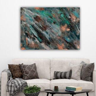 Πίνακας σε καμβά Abstract diagonal strokes