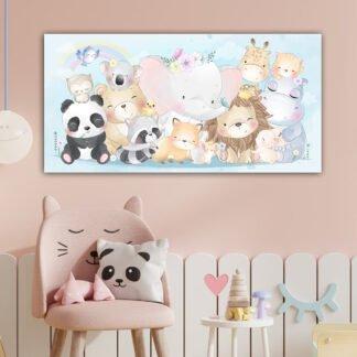 Πίνακας σε καμβά Χαρούμενα ζωάκια
