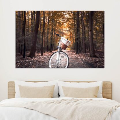 Πίνακας σε καμβά Autumn bike