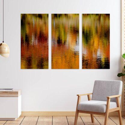 Τρίπτυχος πίνακας Autumn Reflections