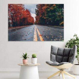 Πίνακας σε καμβά Autumn road