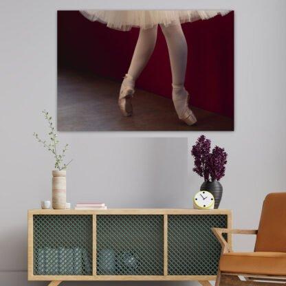 Πίνακας σε καμβά φόρεμα & πόδια μπαλαρίνας