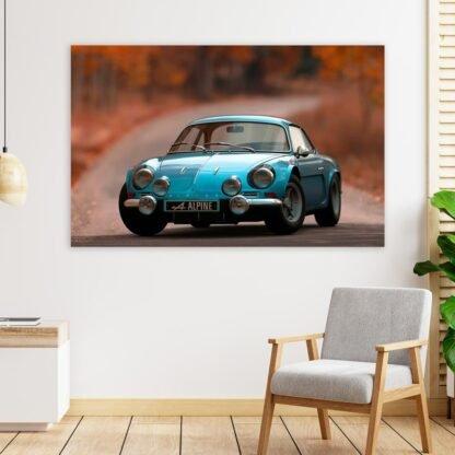 Πίνακας σε καμβά Blue Alpine