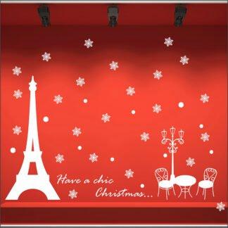 Αυτοκόλλητο τοίχου - βιτρίνας Chic Christmas