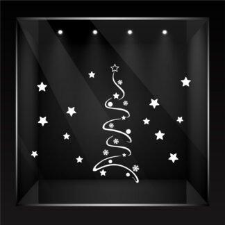 Αυτοκόλλητο τοίχου - βιτρίνας Christmas Tree no2