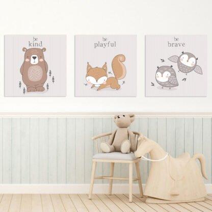 Παιδικοί πίνακες σε καμβά Cute animals no3