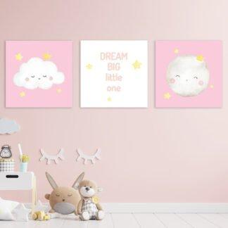 Παιδικοί πίνακες σε καμβά Dream big no2