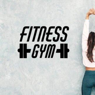 Αυτοκόλλητο τοίχου γυμναστηρίου Fitness