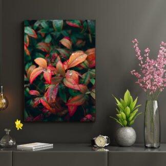 Πίνακας σε καμβά Green Leaves