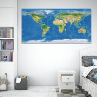 Πίνακας σε καμβά Geo World Map