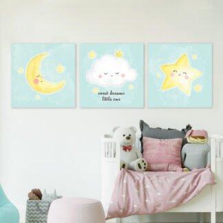 Παιδικοί πίνακες σε καμβά Sweet dreams