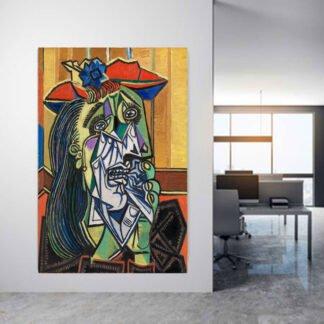 Πίνακας σε καμβά Αντίγραφο Pablo Picasso the wipping woman