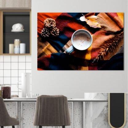 Πίνακας σε καμβά Warm coffee