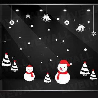 Αυτοκόλλητο τοίχου - βιτρίνας Χιονάνθρωποι