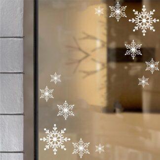 Αυτοκόλλητο τοίχου - βιτρίνας Νιφάδες γωνία