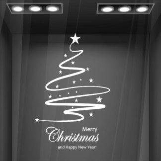 Αυτοκόλλητο τοίχου - βιτρίνας Christmas Tree no42