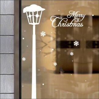Αυτοκόλλητο τοίχου - βιτρίνας Snow Lamp