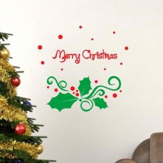 Αυτοκόλλητο τοίχου - βιτρίνας Merry Christmas no2 (γκυ)